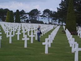 Photo of Paris Normandy D-Day Battlefields and Beaches Day Trip Rows and rows of headstones