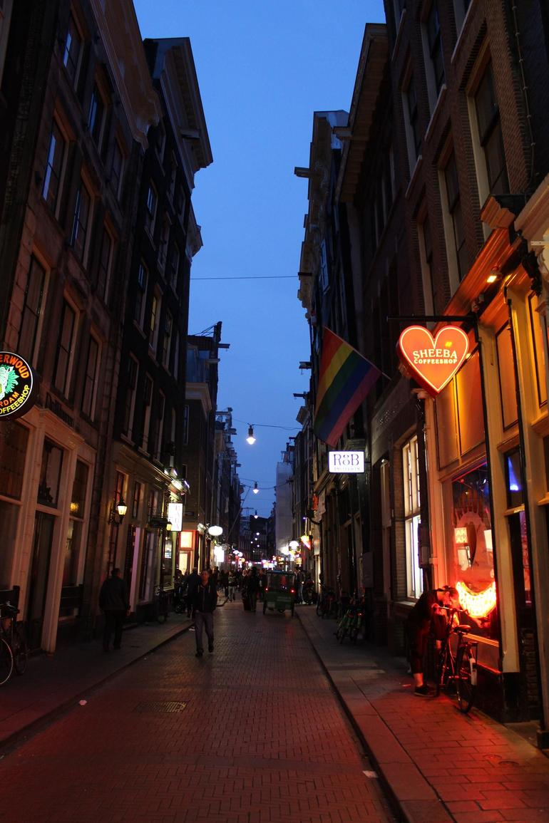Street Alley Red Light District - Amsterdam