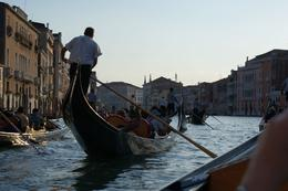We were part of a flotilla of nine being serenaded by a live singer on an evening gondola ride along the Grand Canal and in the back rios of Venice. Sounds naff, but is actually a wonderful ... , Geoffrey B - August 2010