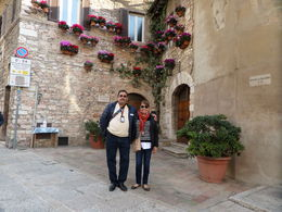 My husband and I, Assisi. , Gloria A - April 2016