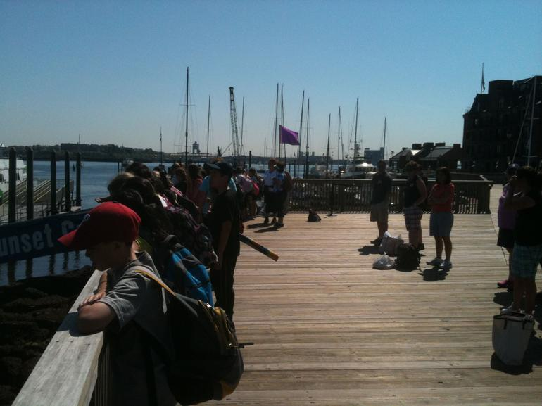 Waiting for the Harbor Island Ferry - Boston