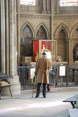 As we toured the basilica a veteran made a visit , Terry W - February 2014