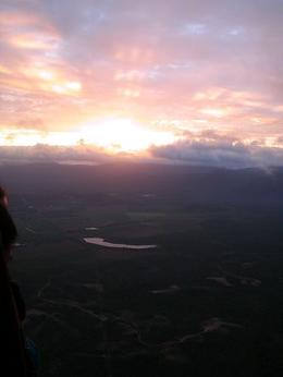 Sunrise from the balloon. - May 2008