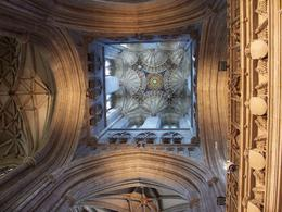 Looking up at the ceiling of one of the towers, Robert M - July 2010