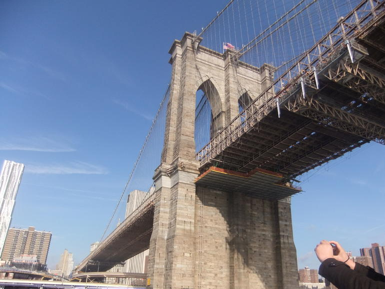 going under Brooklyn Bridge - New York City