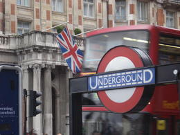 Flag, double-decker and the underground - all in one!, Cat - January 2012