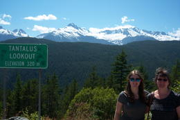 My daughter and I at a lookout point on the way back to Vancouver , RACHEL G - June 2014
