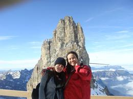 Vania and myself at one of the peaks in Mount Titlis after taking the ice glider mid way :) It was absolutely beautiful , Georgia K - November 2011
