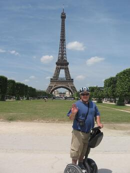 In front of the Eiffel Tower riding a Segway., Craig B - July 2010