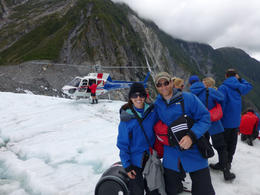 A helicopter takes you to the glacier and back - February 2013