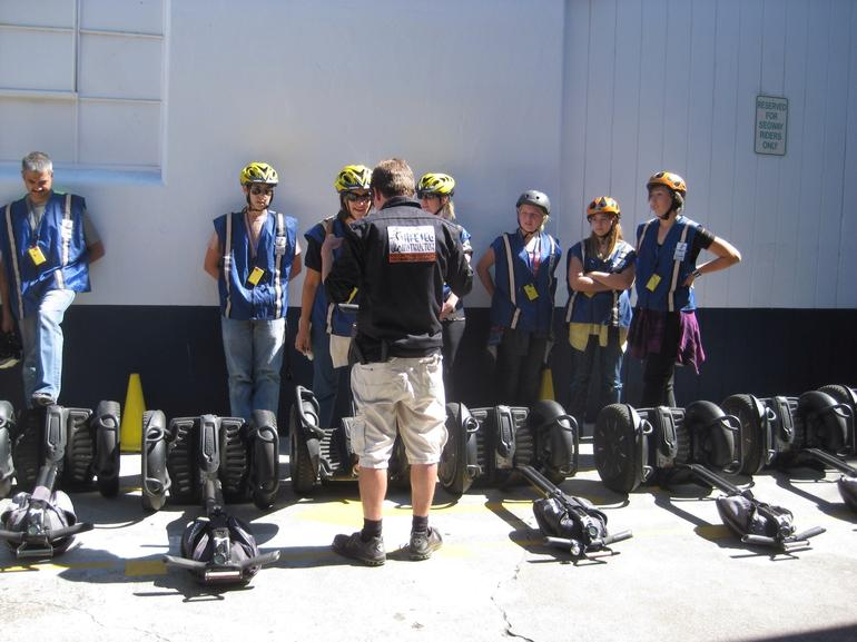 Students paying attention in Segway Class - San Francisco