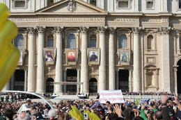 Photo of Rome Papal Audience Ticket at Vatican City The Pope Mobile