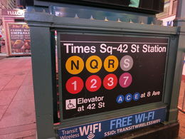 The subway sign at Times Square, Patricia P - July 2015