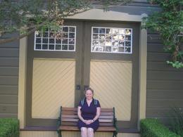 Taking a moment in the garden of the Winchester Mystery House, Undercover Américan - October 2010