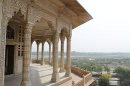 Balcony where Shah Jahan was kept in prison for years - September 2012