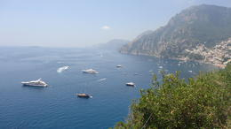 The views from where we stopped along the coast to Positano...picture post card , Kim M - August 2013
