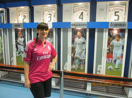 daughter in real Madrid changing room , stephen royston w - October 2014