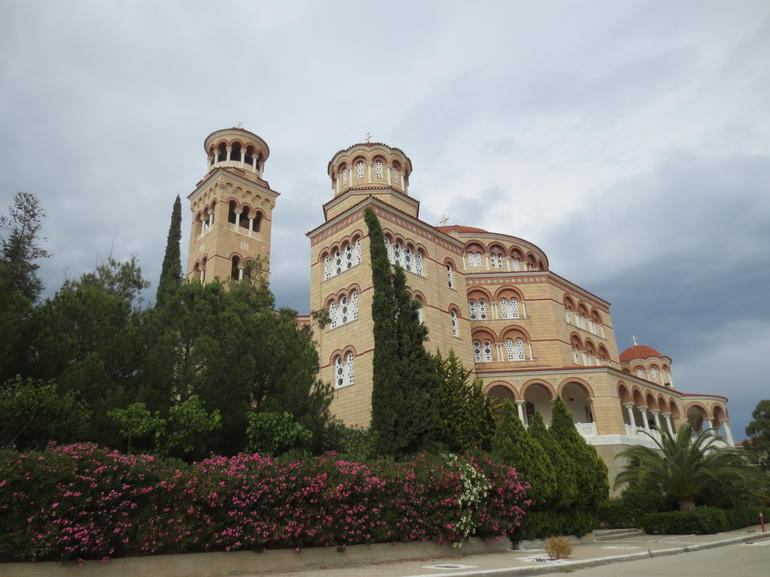 Cathedral of St. Nektarios in Aegina island, Greece - Athens