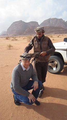 Our Wadi Rum guide, Falah, shows us how the Bedouin do it! , Linden H - December 2013
