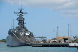 A battleship in Pearl Harbor., Jeff - February 2008