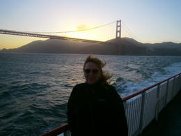 Going past the Golden Gate Bridge at sunset , Kerry ' - July 2013