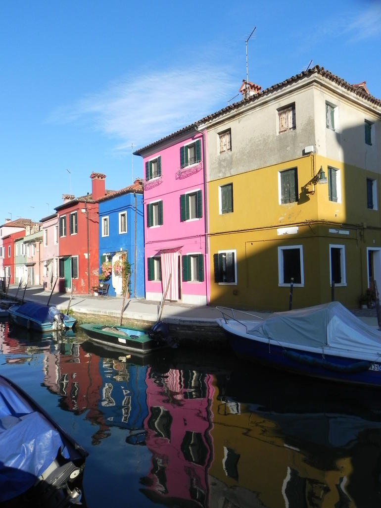 The colorful houses on Burano island - Venice