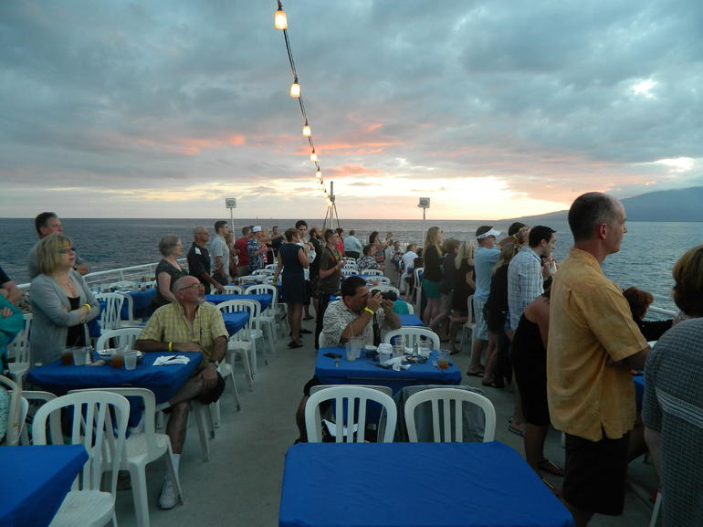 A view of the dinner deck.