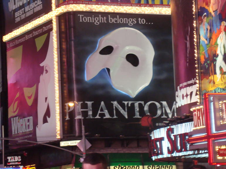 The Phanton in Times Square -
