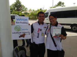 Photo of Cancun Cancun Airport Roundtrip Transfer Two smiling faces - waiting for ME!