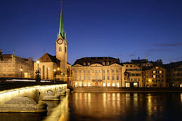 Photo of   Zurich at twilight, Switzerland