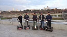 nice scenes of madrid on our segways , mohammed z - February 2016