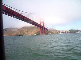 Foto von San Francisco San Francisco: Bootstour mit Champagner-Brunch Coming under the other side of the Golden Gate bridge