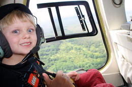 Photo of Big Island of Hawaii Fire and Falls Helicopter Adventure from Hilo First helicopter ride