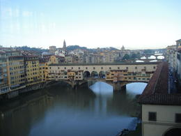 Photo of Florence VIP Experience: Uffizi Gallery and Vasari Corridor Walking Tour Including Terrace Breakfast Florence river