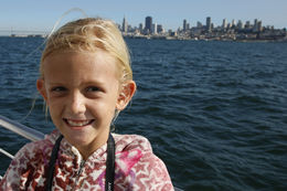 Granddaughter Avery enjoying the cruise. San Francisco skyline in the background. , Marleen H - October 2015
