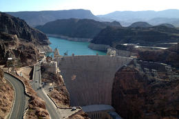 Great view of the Hoover Dam, Jules & Brock - August 2012