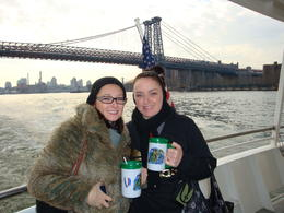My Cousin and I on a Manhattan full Island Cruise during Winter , Millie - March 2011