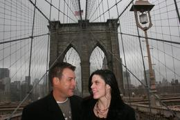 On the Brooklyn Bridge. - February 2009