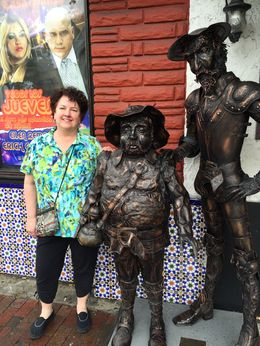 Here's Julie posing with Don Quixote, just across the street from the famous Ball and Chain. , JEFF R - February 2015