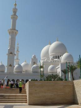 Photo of Dubai Abu Dhabi City Sightseeing Tour - The Arabian Jewel Outside of the mosque