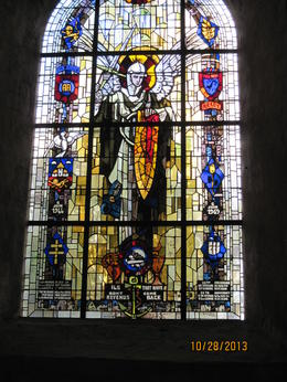 Photo of Bayeux Normandy Battlefields Tour - American Sites Stain glass window of the 82 Airborne in Ste-Mere_Eglise