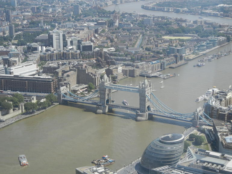 Tower Bridge as seen from The Shard - London