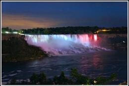 Photo of   American Falls by night