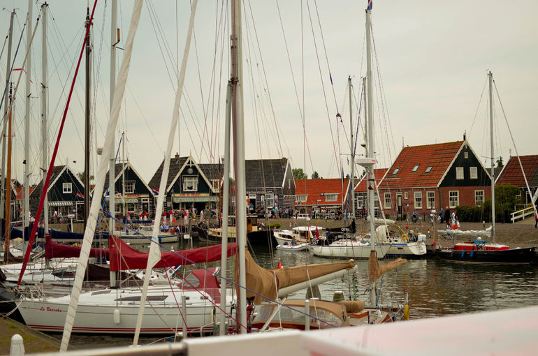 End of the boat ride to Volendam from Marken