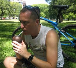 Photo of Buenos Aires Buenos Aires Bike Tour: Recoleta and Palermo Districts Drinking mate with Gabriel