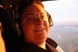 Photo of Las Vegas Grand Canyon West Rim Deluxe Sunset Helicopter Tour Enjoying the helicopter flight