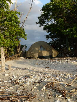 Our comfy, shady tent., kellythepea - May 2014