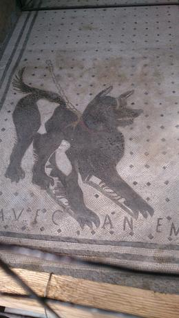 Photo of Rome Rome to Pompeii Shuttle Bus & Independent Day Trip Famous  and quot;Beware of Dog and quot; mosaic