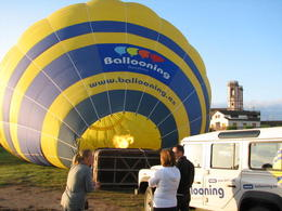 Photo of Barcelona Hot Air Balloon Flight over Catalonia Getting the balloon ready for flight