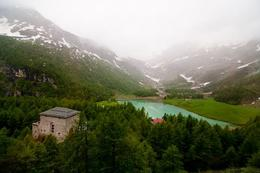Photo of Milan Swiss Alps Bernina Express Rail Tour from Milan Glacial Lake, Swiss Alps